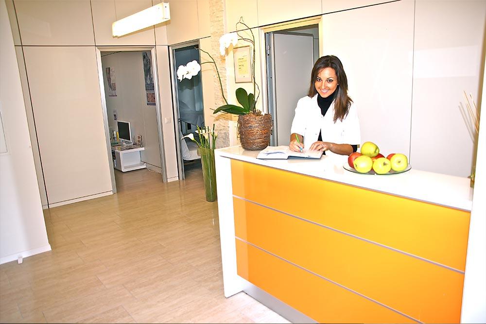 reception centro estetico Swiss Pro Age Lugano