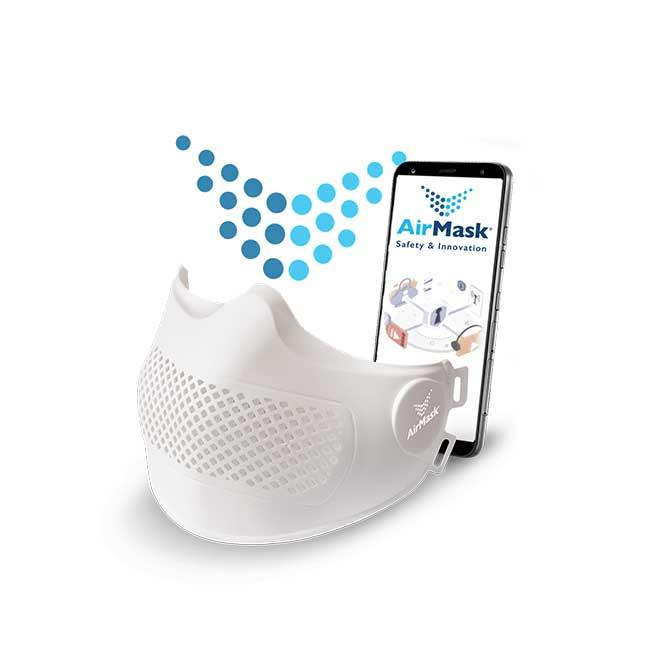 Mascherina protettiva facciale AirMask pro mascherina tecnologica Svizzera